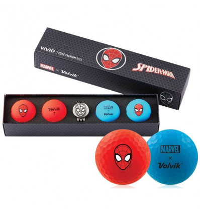 Balles de golf Volvik Marvel - Coffret 5 balles Spider Man