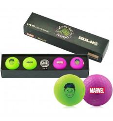 Balles de golf Volvik Marvel Hulk