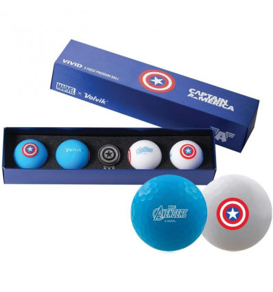Balles de golf Volvik Marvel Captain America