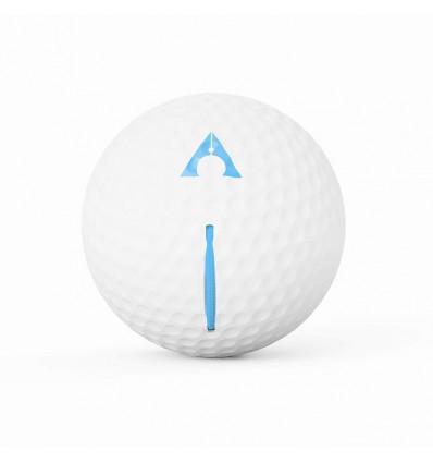 Balle d'entrainement Alignement Ball Blanc Bleu