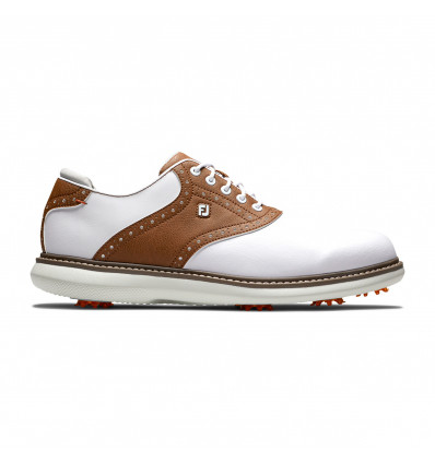 Chaussures de golf FootJoy FJ Traditions Blanc Marron