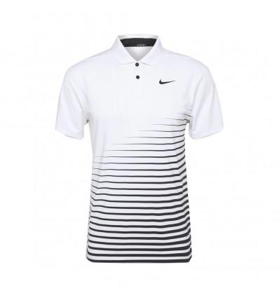 Polo Nike Dri-FIT Vapor Zébré Blanc Noir