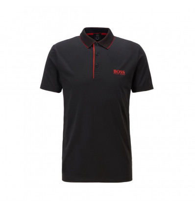 Polo Hugo Boss Slim Fit Noir Rouge