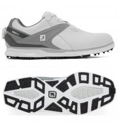 Chaussures de golf FootJoy PRO SL Boa Blanc