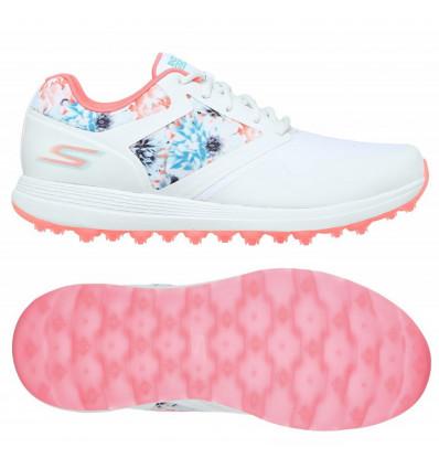 Chaussures skechers go golf max tropics blanc/multicolores